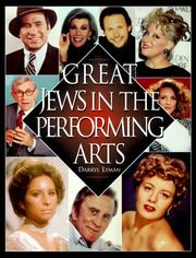 Cover of: Great Jews in the performing arts