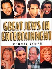 Cover of: Great Jews in entertainment