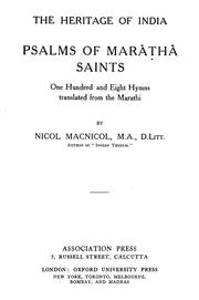 Cover of: Psalms of Marāthā Saints