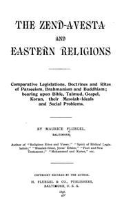 Cover of: Zend-Avesta and eastern religions | Maurice Fluegel