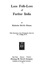 Cover of: Laos folk-lore of farther India