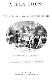 Cover of: Villa Eden: the country-house on the Rhine
