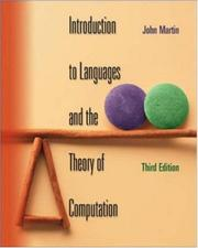 Cover of: Introduction to Languages and the Theory of Computation | John Martin