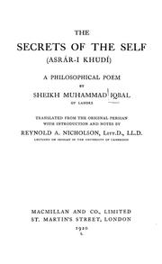 Cover of: Asrār-i k̲h̲vudī