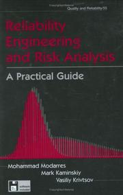 Cover of: Reliability Engineering and Risk Analysis | Mohammad Modarres
