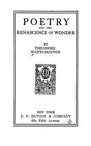 Cover of: Poetry and the Renascence of wonder
