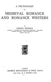 Cover of: A dictionary of medieval romance and romance writers