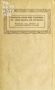 Cover of: Sonnets from the Trophies of José-Maria de Heredia | JosГ©-Maria de Heredia