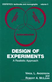 Cover of: Design of experiments