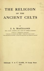 Cover of: The religion of the ancient Celts