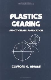 Cover of: Plastics gearing | Clifford E. Adams