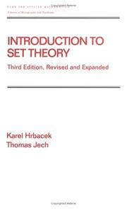 Cover of: Introduction to set theory