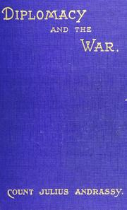 Cover of: Diplomacy and the war