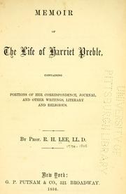 Cover of: Memoir of the life of Harriet Preble
