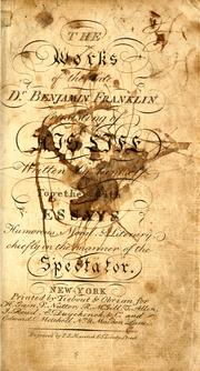 Cover of: The works of the late Dr. Benjamin Franklin