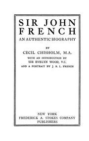Cover of: Sir John French | Chisholm, Cecil.