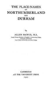 Cover of: The place-names of Northumberland and Durham