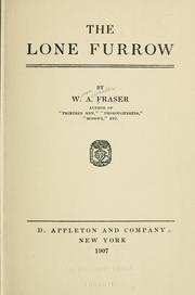 Cover of: The lone furrow