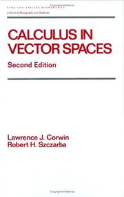 Cover of: Calculus in vector spaces