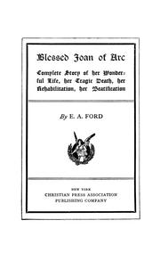 Cover of: Blessed Joan of Arc | E. A. Ford