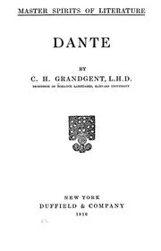 Cover of: Dante | C. H. Grandgent