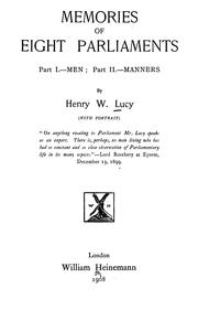Cover of: Memories of eight Parlaiments | Henry William Lucy