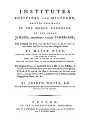 Cover of: Institutes, political and military