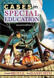 Cover of: Cases in special education | Joseph R. Boyle