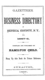 Cover of: Gazetteer and business directory of Wayne county, N. Y., for 1867-8