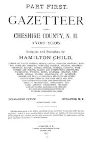 Cover of: Gazetteer of Cheshire County, N.H., 1736-1885