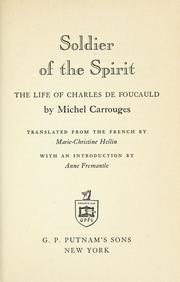 Cover of: Soldier of the spirit