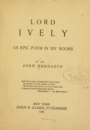 Cover of: Lord Ively | John Heddaeus