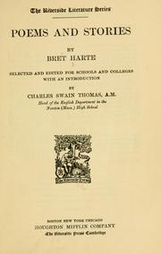 Cover of: Poems and stories | Bret Harte