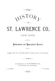 History of St. Lawrence Co., New York.