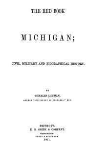 Cover of: The red book of Michigan