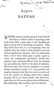 Cover of: Nature, the Utility of religion, and Theism