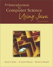 Cover of: An introduction to computer science using Java