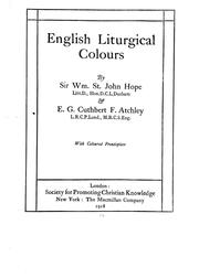 Cover of: English liturgical colours