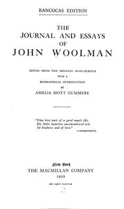 Cover of: The journal and essays of John Woolman