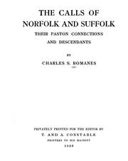 The Calls of Norfolk and Suffolk by Charles S. Romanes