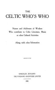 Cover of: The Celtic who
