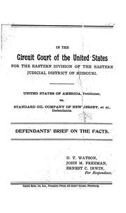 Cover of: United States of America, petitioner, v. Standard oil company of New Jersey et al., defendants