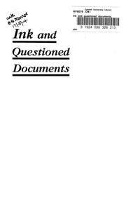 Cover of: Ink and questioned documents