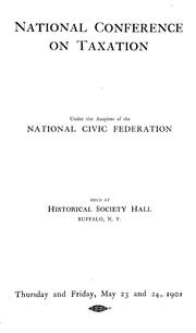 Cover of: National conference on taxation | National conference on taxation (1901 Buffalo)