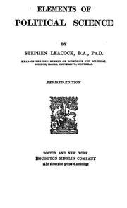 Cover of: Elements of political science | Stephen Leacock