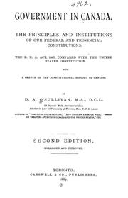 Cover of: Government in Canada. | D. A. O