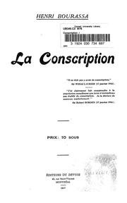 Cover of: Conscription