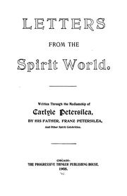 Cover of: Letters From the Spirit World by Carlyle Petersilea