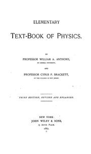 Cover of: Elementary text-book of physics | William A. Anthony