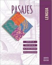 Cover of: Pasajes | Mary Lee Bretz